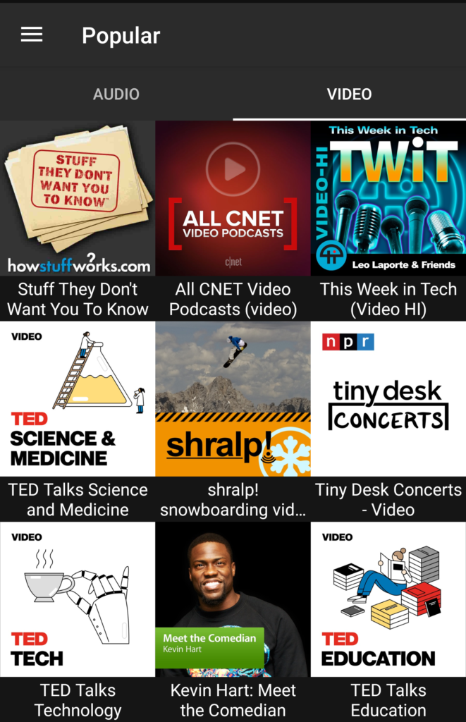Top Audio & Video Podcasts